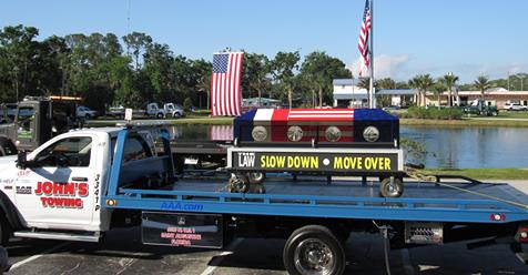 John's towing in Palm Coast, Florida